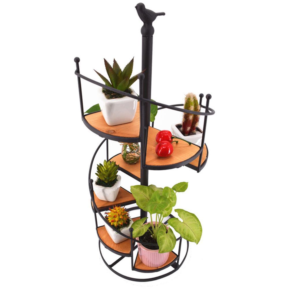 DS Стиль s железная черная винтовая лестница стиль подсвечник десерт завод Стенд украшение