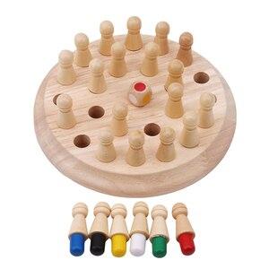 Image 5 - เด็กหน่วยความจำไม้จับคู่เกมหมากรุกบล็อกสนุกเกมการศึกษาสีCognitive Abilityของเล่นเด็ก