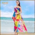 2016 Новый Плюс Размер Женщины Sexy Длинные Шифон Пляж Саронг Wrap Шарф Парео Большой Цветок Шаль