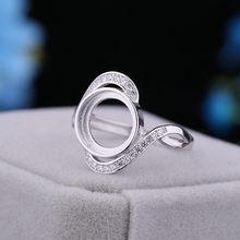 925 Ayar Gümüş 10x10mm Yuvarlak Cabochon yarı asmalı yüzük Amber Opal Lapis Lazuli Turkuaz Ayarı Nişan Yüzüğü