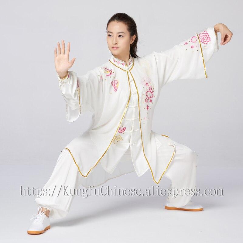 Chinesischen Tai chi kleidung taiji schwert leistung anzug kungfu uniform schal stickerei für frauen kinder mädchen männer junge kinder auf AliExpress - 11.11_Doppel-11Tag der Singles 1