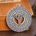 Slavic Runic Alphabet Occult Circle Norse Talismans Vintage Viking Best Friend Jewelry Pendants 1pc
