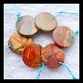 Sale 6pcs Multi-color picasso jasper pendant beads set,18*3*mm,18*2mm,11.4g,semiprecious stone