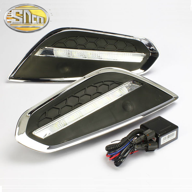 SNCN 2PCS LED Daytime Running Light For Volvo S60 2011 2012 2013 Car Accessories Waterproof ABS 12V DRL Fog Lamp Decoration