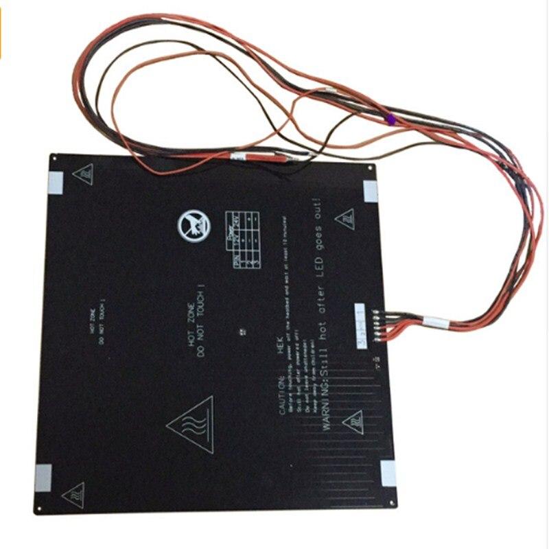 Lit chauffant JGAURORA 6Pin avec câble chauffant à souder pas de verre diamant noir pour imprimante 3D A3S A5S