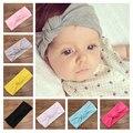 2016 meninas Do Bebê Tie Knot Headband Malha de Algodão Crianças Meninas faixas de cabelo elásticos Turbante Headbands arcos para a menina de Verão Estilo