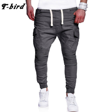 T-Bird 2018 Joggers Pants Men Streetwear Solid Cargo Pants pantalon homme Hip Hop Men Joggers Sweatpants High Quality Male Pants