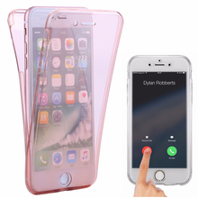 ФОТО 6s crystal touch full body transparent case for apple iphone 6 6s cover soft 360 silicone phone bag cases for iphone6 iphone6s