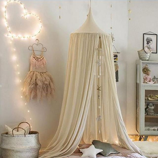 Canopy Bed Netting Mosquito Bedding Net For Children Reading Play Tents Cotton Free Shipping