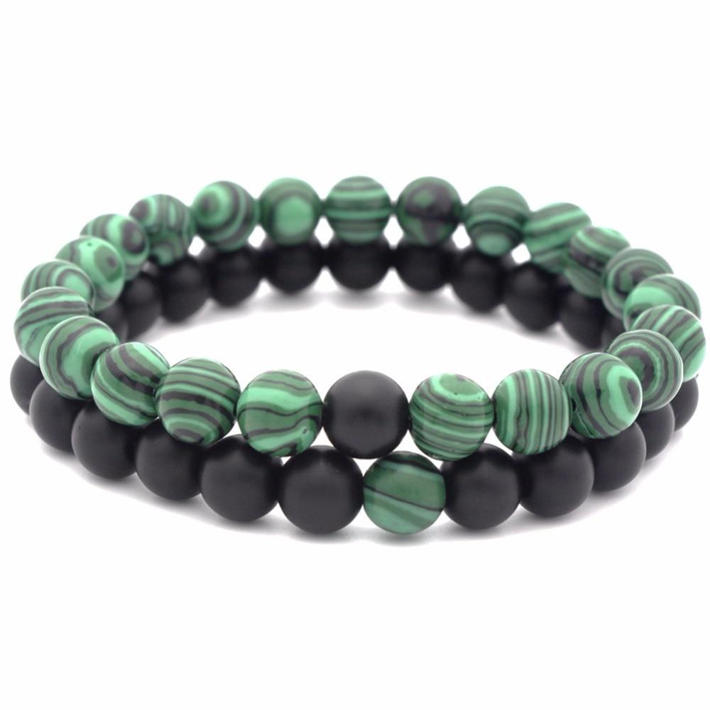 2018 Rushed New Round Bracelets & Bangles Bileklik Pulseira Masculina 2pcs Diy Natural Stone Beads Bracelet Healing For Lover's