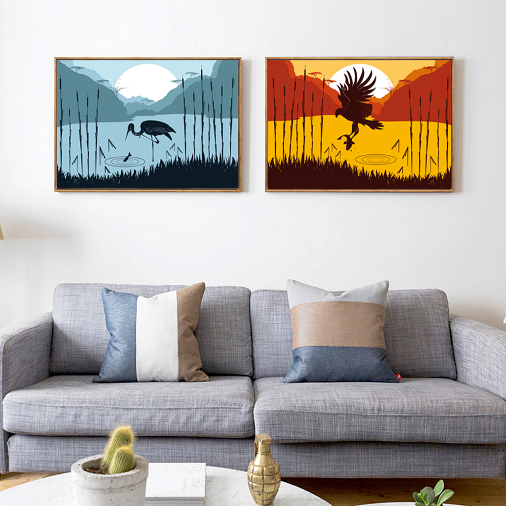 Compare prices on crane artwork online shopping buy low for Eagle decorations home
