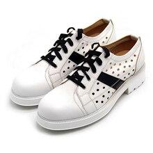 Белые, черные кожаные туфли с натуральным лицевым покрытием, на толстом каблуке, с вырезами, из дышащей кожи, модные популярные мужские деловые туфли