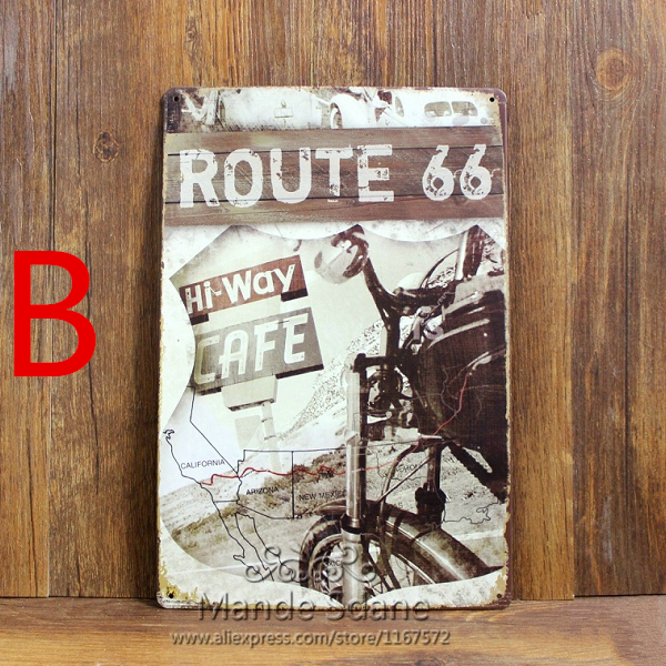 Vintage Tin Signs Route 66 Decor Pub Wall Tavern Garage Sheet Office Restaurant Bar Iron Paintings Picture 20x30cm On Aliexpress Alibaba