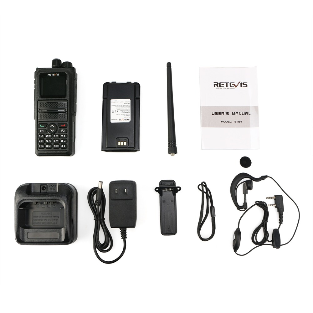 RETEVIS RT84 DMR Dual Band Walkie Talkie 5W VHF UHF DMR VFO Digital/Analog Encrypted Two Way Radio Transceiver Ham Radio Amador