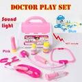 Médica kit crianças doutor toys set role play toy crianças médico juguetes educativos pretend play house toys para as crianças sem caixa