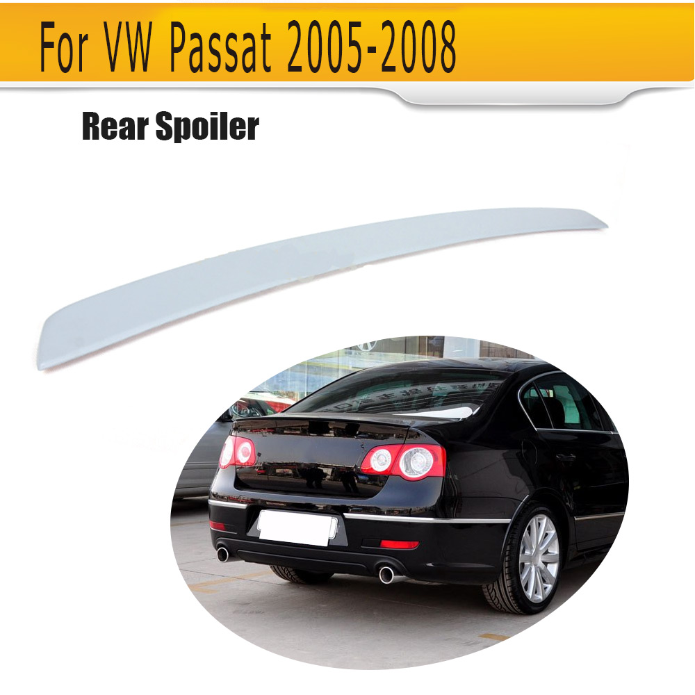 PU Unpainted Grey Primer Auto Car Spoiler Boot Lips For VW Passat B6 2005-2008