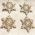 Nuevo Diseño Inacabado de Astillas De Madera Hermosa forma de Nieve Decoración Fiesta de Navidad de La Pared Decoración Hecha A Mano Diy Jewerly 50 UNIDS/LOTE