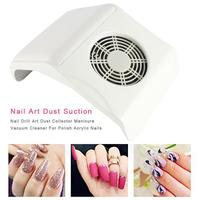 Manicure Vacuum Cleaner Nail Dust Collector Pedicure Machine Cleaning Nail Drill Polish Gel 2 Dust Collector Bags