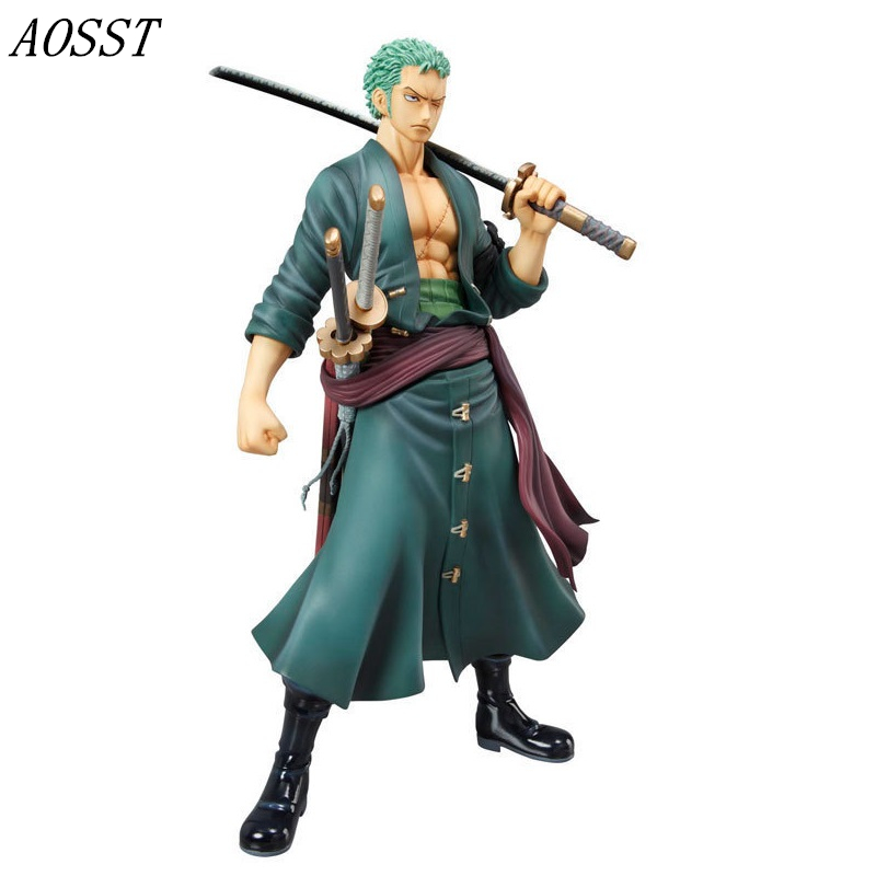 (AOSST) POP Anime One Piece Roronoa Zoro Limited Edition PVC 1/8 Action figure Doll Christmas Gifts For Children Toys one piece action figure roronoa zoro led light figuarts zero model toy 200mm pvc toy one piece anime zoro figurine diorama