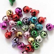 400 шт разные цвета твердая медь латунь размер jingle bell 8