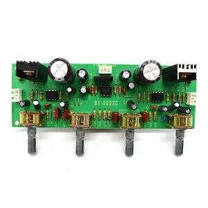 Image 2 - NE4558 Audio Vorverstärker Bord Höhen Bass Balance Einstellbar Audio Preamp Board Mit Ton Pre verstärker Control Dual A7 017
