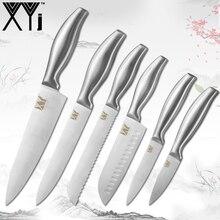 XYj набор кухонных ножей из нержавеющей стали, японский стиль, нож для хлеба, кухонный нож, подарок, кухонные аксессуары, инструменты для мяса