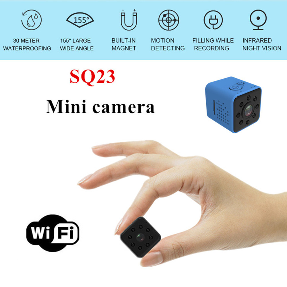 цена на Smart Mini Sports Camera SQ23 Small Camera Infrared Night Vision HD 1080P Wide Angle Waterproof Camera