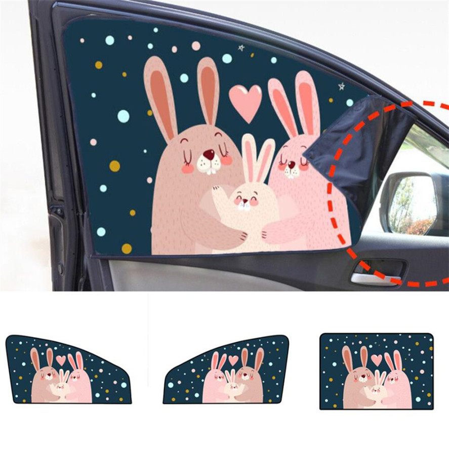 Cartoon Sailing Ship Design Shading Curtain Blackout: Cartoon Children 1PC Universal Car Sun Shade Curtain