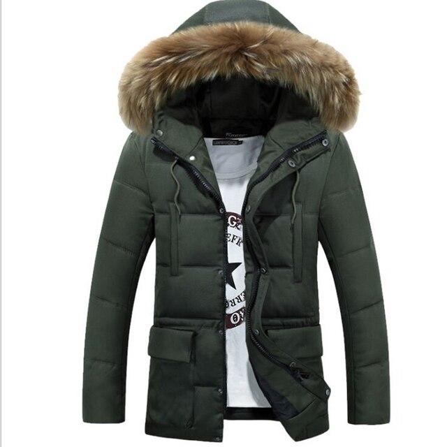 Черный Новый Бренд мужской хлопок Куртка Повседневная Твердые Воротник пальто Зимняя Куртка Моды для Мужчин Пальто Верхней Одежды хлопка