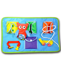 Busy Boards Owl Educational Toys Zipper Lacing Book Basic Dressing Game Baby Gifts Montessori Life Skills Learning Bizybord Toys