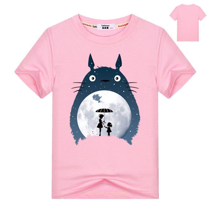 Kids Cartoon Totoro Print Cotton T shirt For Girl/Boy Anime T-Shirts for Children Baby Girls  Kawaii Clothing 1