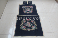 Free Shipping 10K+20K chair cover set, needlepoint woolen handmade chair covers with arms