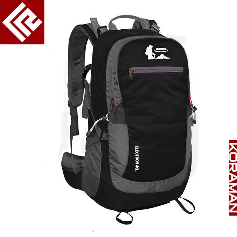 KORAMAN professional 40L knapsack outdoor waterproof mountaineering bag nylon backpack wear-resistant tourist strip package 1406 gykz new large capacity 40l outdoor tourist backpack women