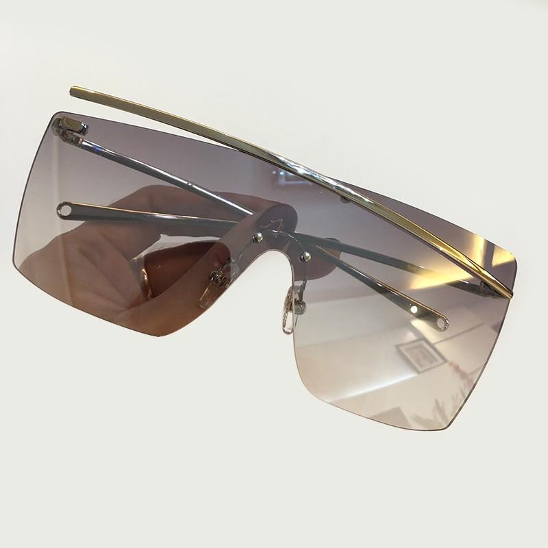 Quadrat Qualität 6 4 Größe 1 Oculos Box Sol Gradienten 3 Frauen no 2019 no Packign De Randlose Rahmen no Hohe Brillen no 2 Sonnenbrille Große Objektiv no Mit 7 Feminino 5 No no AEYqxqdw