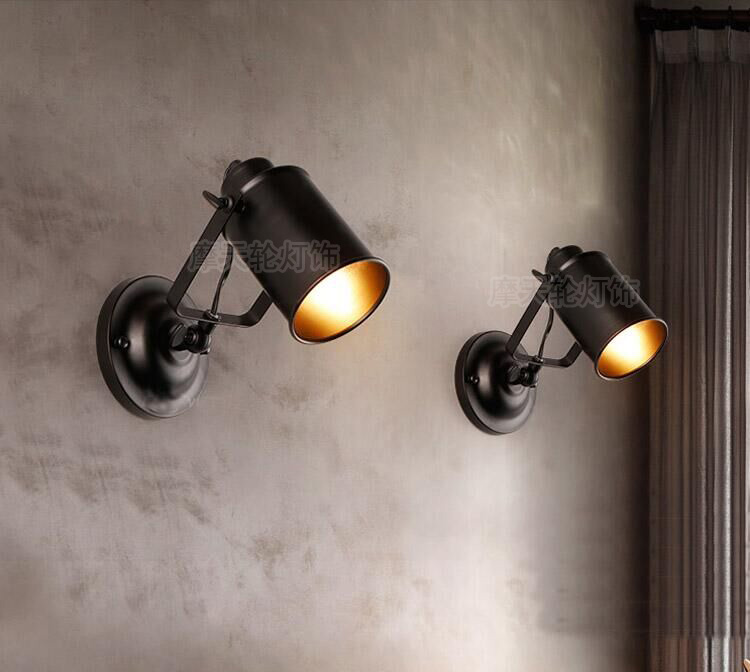 E27 Vintage Industrial Wall Lamp Loft Creative Swing Arm Sconce Balcony Stair Porch Restaurant Bar Bedroom Wall Light Home Light