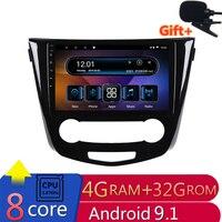 10 4G RAM 2.5D IPS 8 CORE Android 9.1 Car DVD Multimedia Player GPS For Nissan Qashqai j11 / X Trail 2014 2016 radio navigation