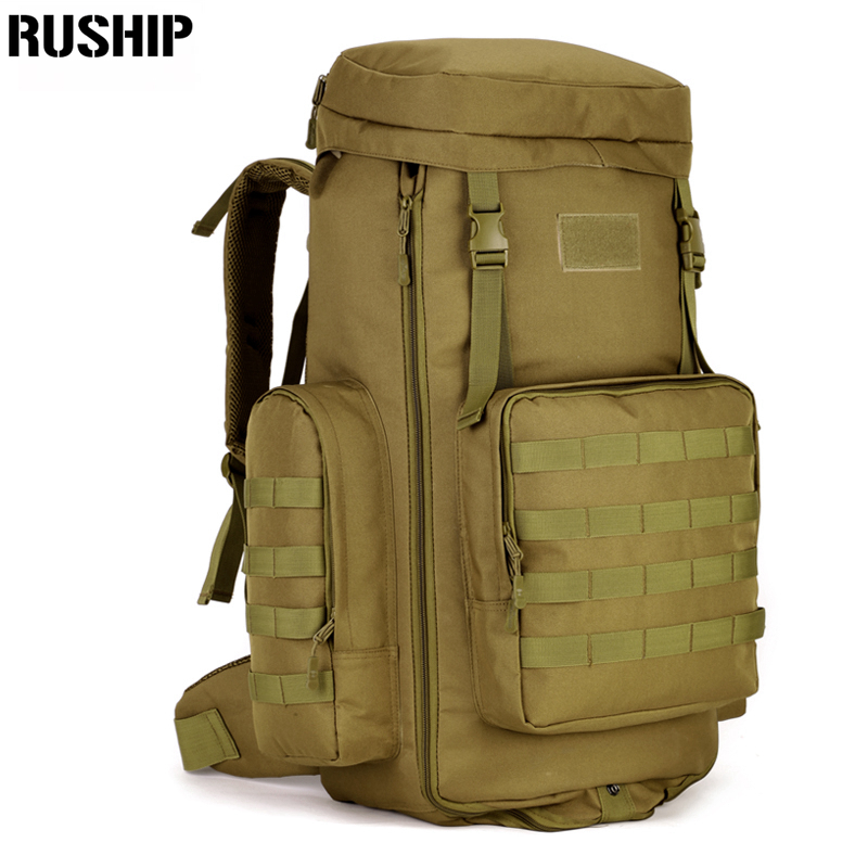 70 to 85L Big Large Capacity Adjustable Multifunction Out Door Travel Backpack Camouflage Nylon Tactics Molle