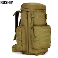 70 to 85L Big Large Capacity Adjustable Multifunction Out Door Travel Backpack Camouflage Nylon Tactics Molle System Rucksack