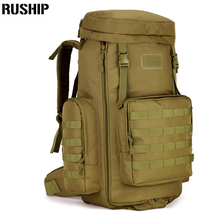 70 to 85L Large Capacity Adjustable Multifunction Out Door Travel Backpack Camouflage Nylon Tactics Molle System
