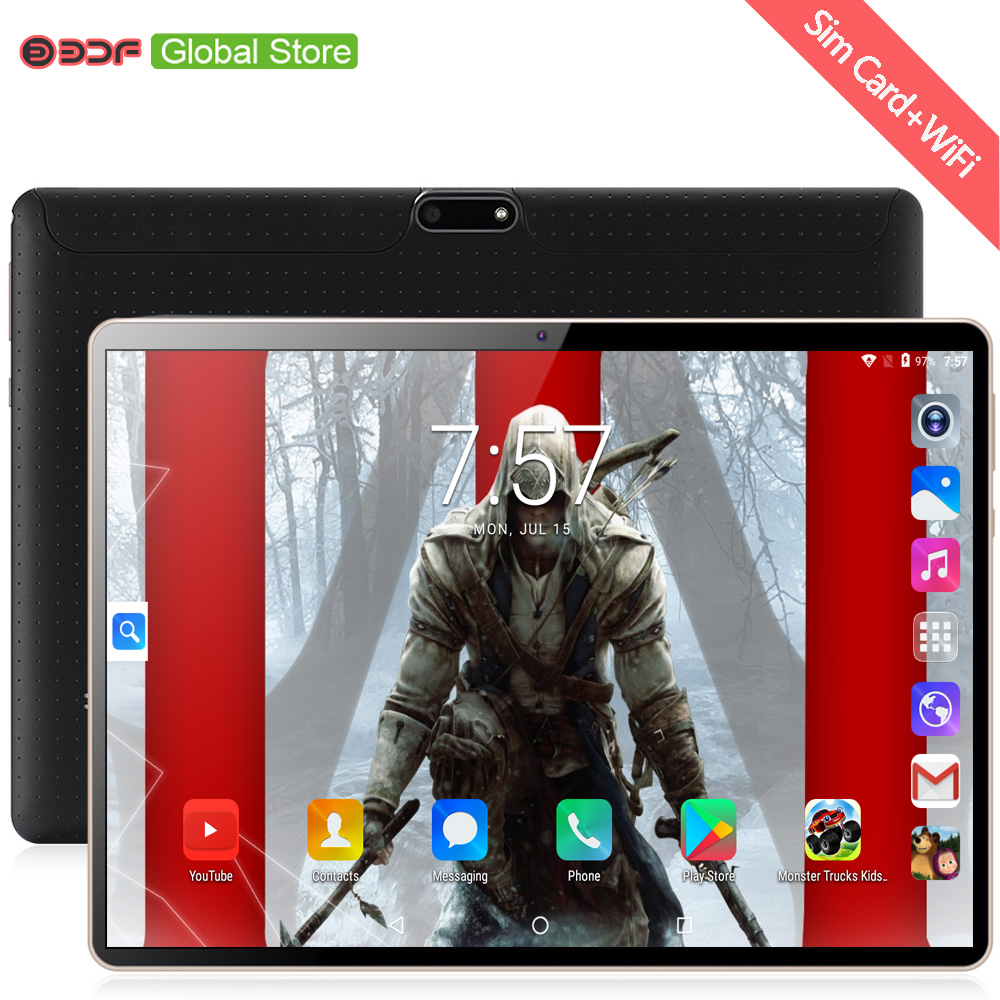 New 10 Inch Original Design 3G Phone Call Android 7.0 Octa Core 4G+64G Android Tablet Pc WiFi Bluetooth GPS IPS Tablets 10.1