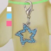 Retail Pet supplies Pet dog Accessories Blue Pink White Rhinestone Stars Diamond Puppy Pet Dog