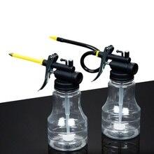 цены на 250ML Oil Can Transparent High Pressure Oiler Lubrication Oil Can Bottle Flex Manual Oiling Gun With Rigid Spout Thumb Pump Tool  в интернет-магазинах
