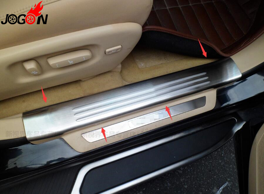 Accessories 304 Stainless Steel Door Sill Scuff Plate Door Sill Threshold For LEXUS RX270 RX350 RX450