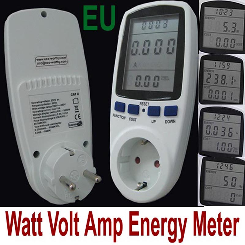 230V 16A High Quality EU Plug LCD Digital Energy Meter Power Meter,Wattmeter ,Watt Voltage meter,amper meter monitor