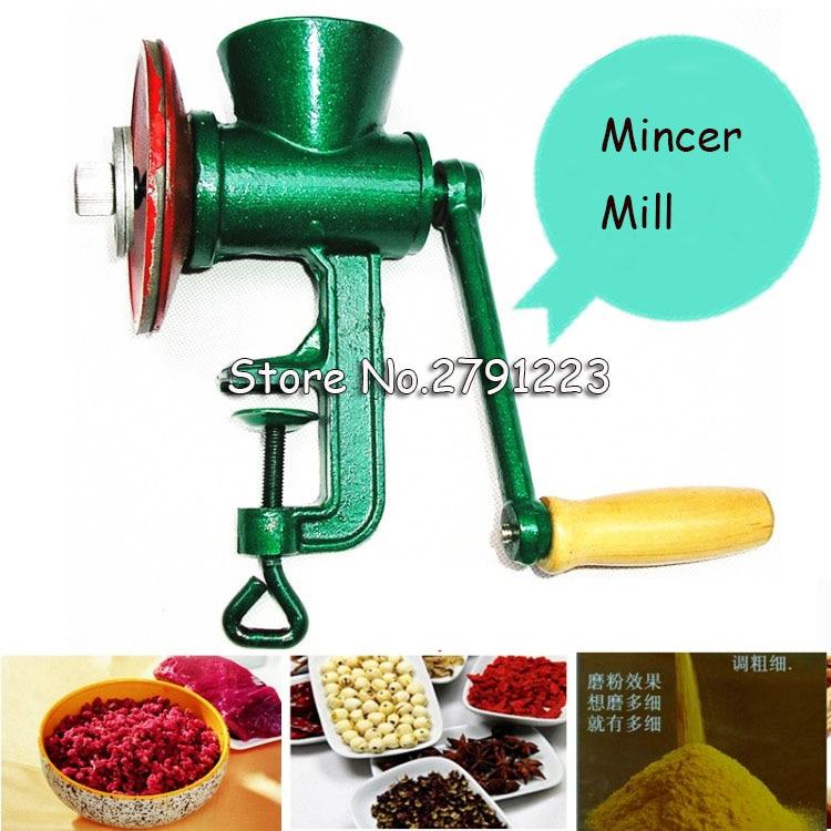 Free Shipping New Chili Soybean Grain Rice Mill Wheat Corn Flour Hand Crank Oats Flour Mill
