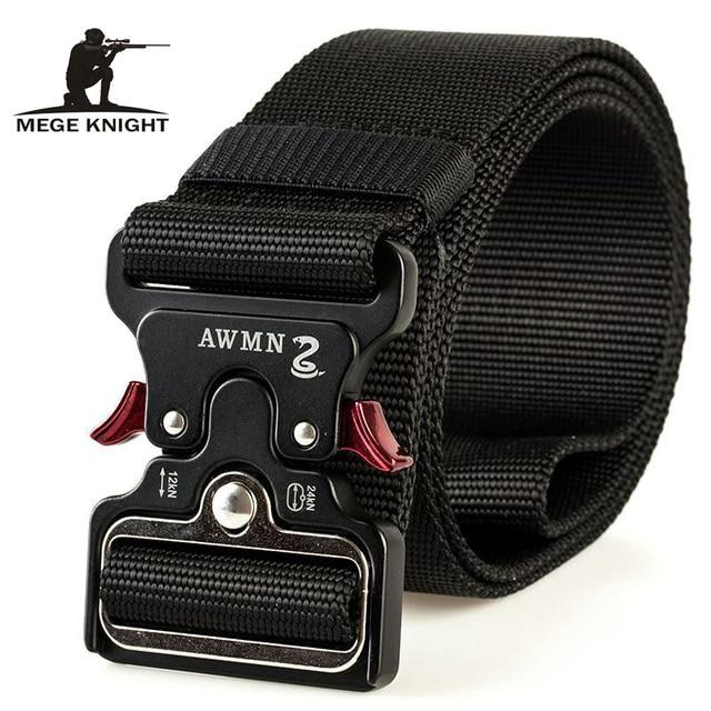MEGE Mannen Tactical Army Belt Militaire Nylon Riem Outdoor multi functionele Breedte Training Canvas Riem Hoge Kwaliteit Band ceintures