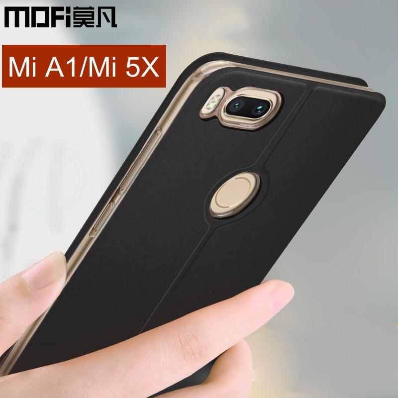 xiaomi mi 5x case xiaomi mi A1 flip cover leather back silicone hard protective phone capa MOFi original xiaomi mi 5x case cover
