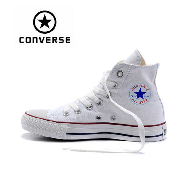 New Arrival Original Converse Classic Unisex Canvas Skateboarding Shoes  High top Anti-Slippery Sneaksers Classique df4c37124