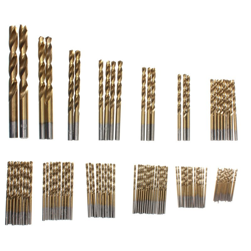 99 Pieces/set <font><b>1.5</b></font> <font><b>mm</b></font> - 10 <font><b>mm</b></font> Titanizing Coated High Speed Steel <font><b>Drill</b></font> Bit Set Tools image