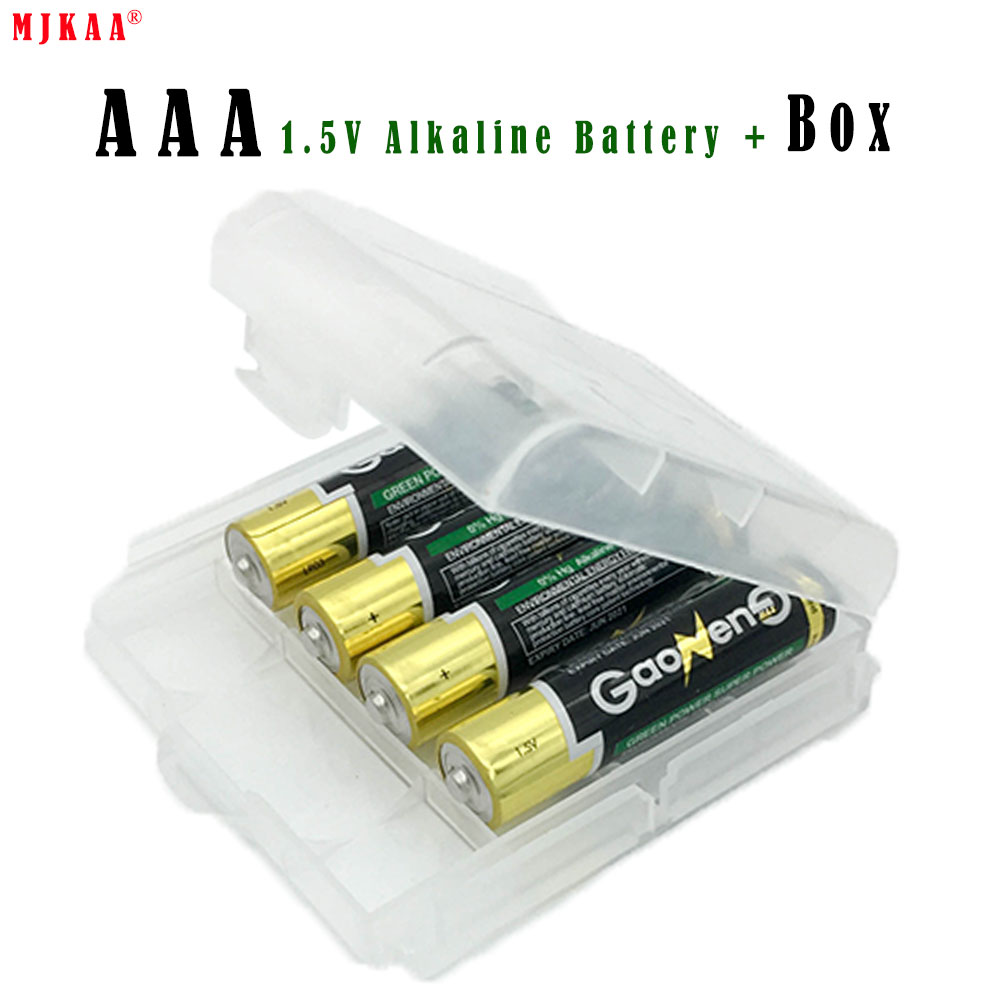 4pcs lot LR03 AAA 1 5V Battery with Box Alkaline Dry Batteries E92 AM4 MN2400 MX2400
